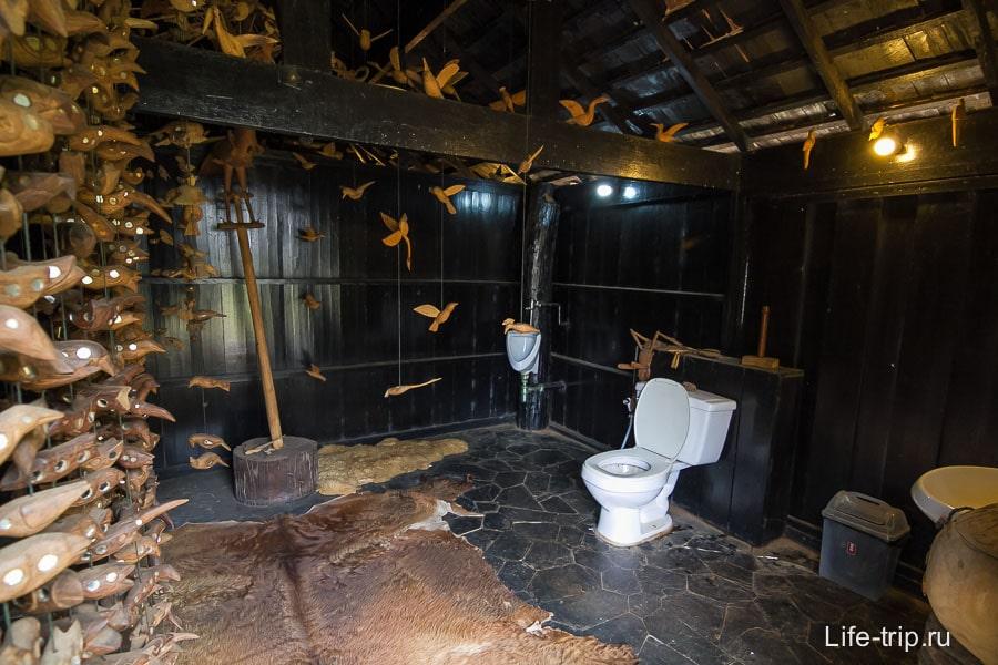 Туалет тут тоже необычный