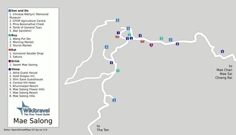 Карта Ме Салонг