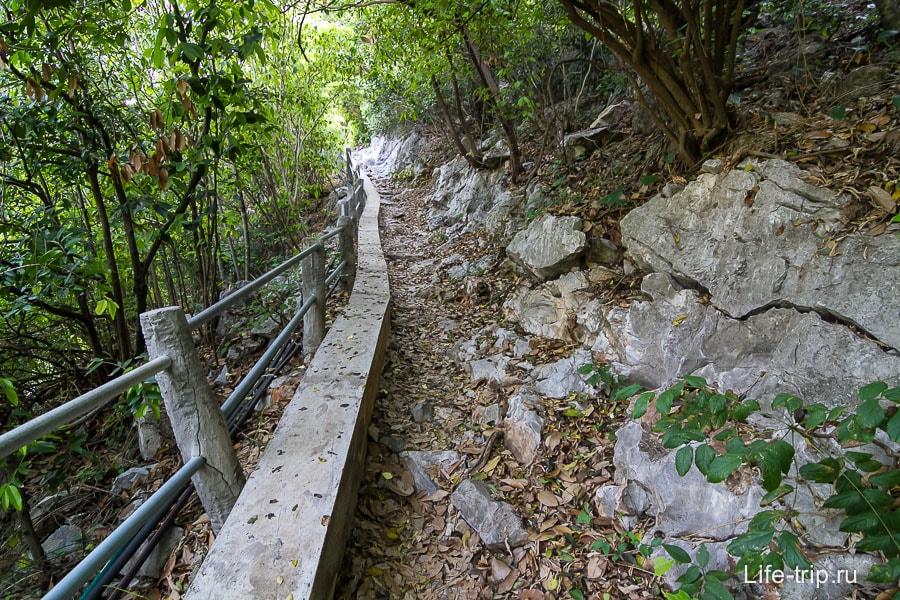 Вот такая тропинка ведет через скалу