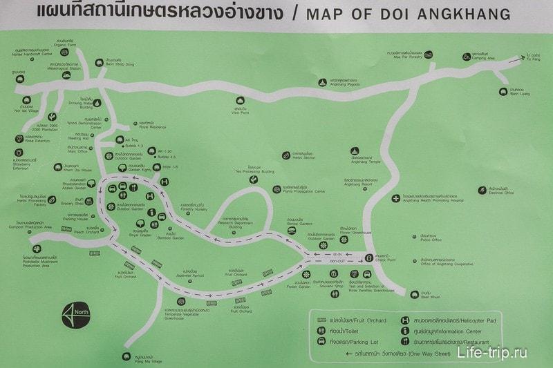Карта Doi Ang Khang (кликабельно)