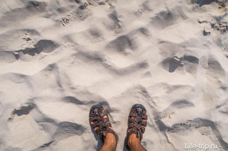 Песок идеальный, мягкий, белый, всё по фен-шую