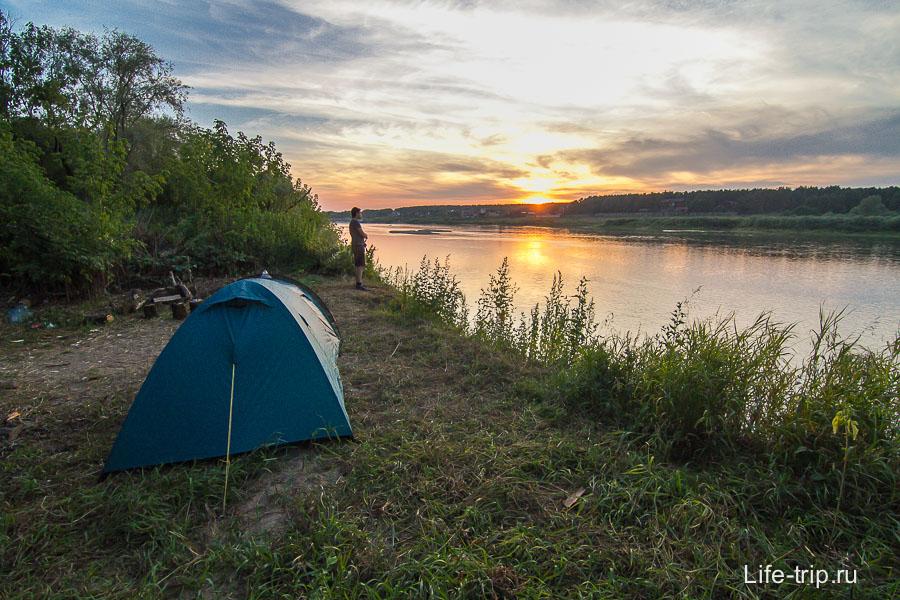 Отдых с палатками на Оке