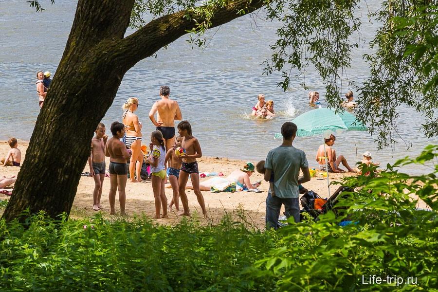 Пляж в Пущино
