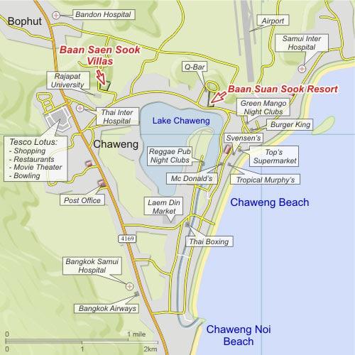 Схематичная карта Чавенга