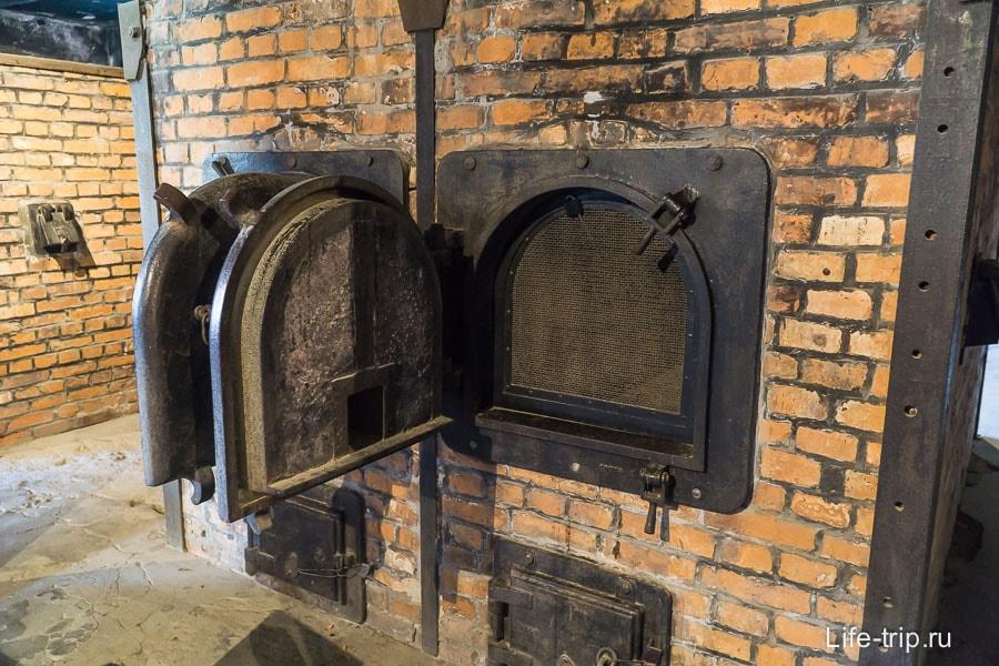 Печь крематория в Аушвиц 1
