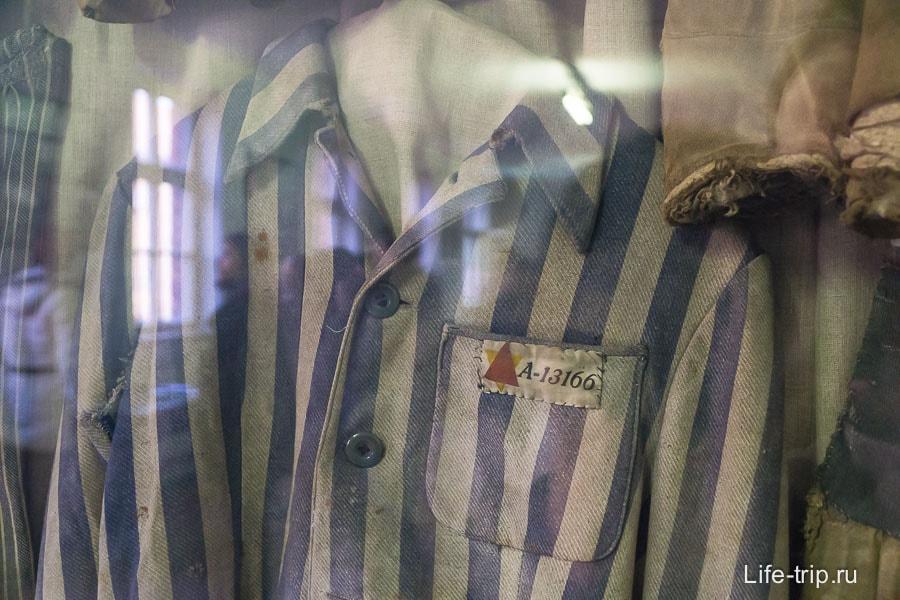Одежда узников в Освенцим