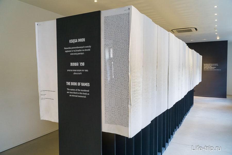 Книга имен в экспозиции Израиля