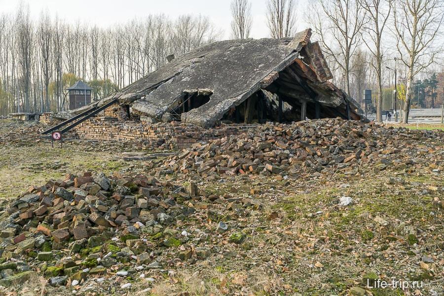 Развалины взорванного крематория