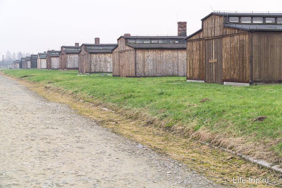 Реконструкция деревянных бараков Биркенау
