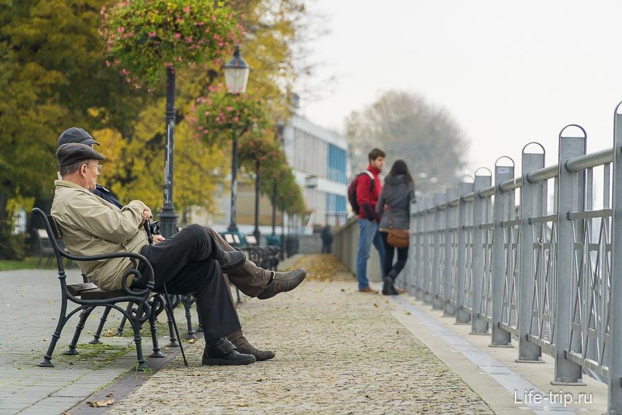 Прогулки по набережной Братиславы