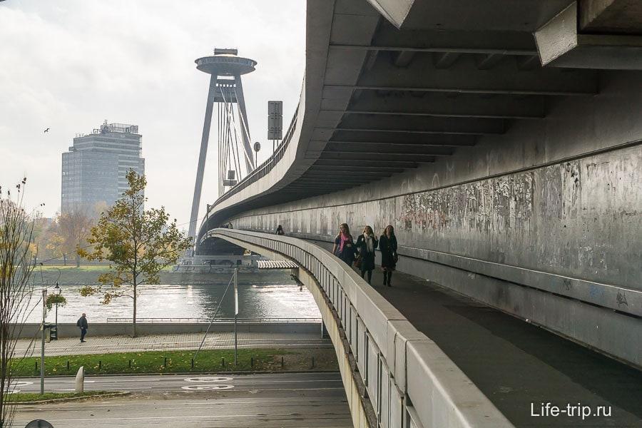 Мост СНП (Most SNP) - достопримечательность Братиславы