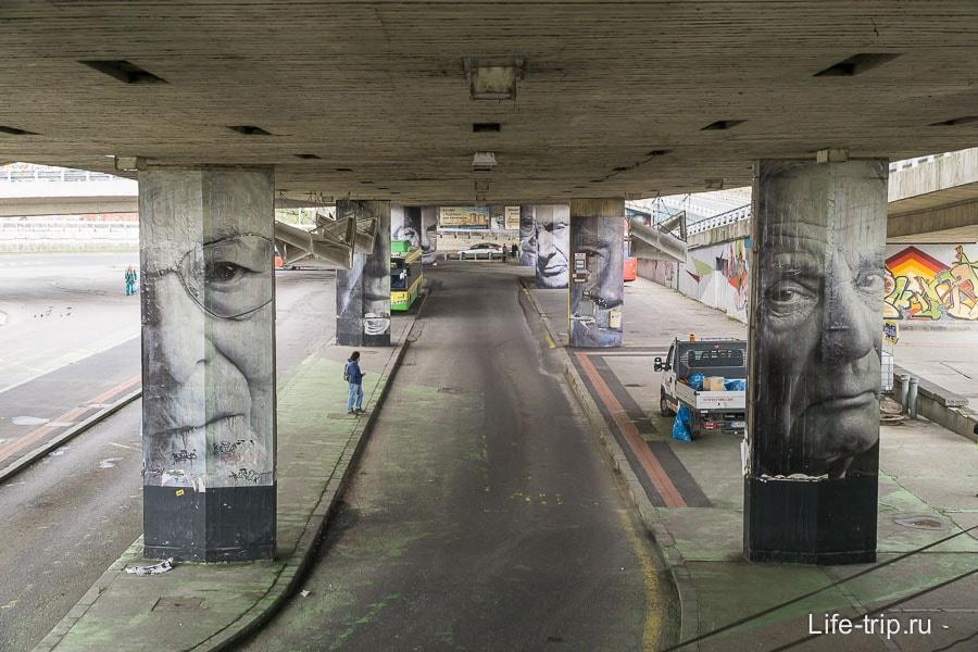 Под мостом СНП не менее интересно