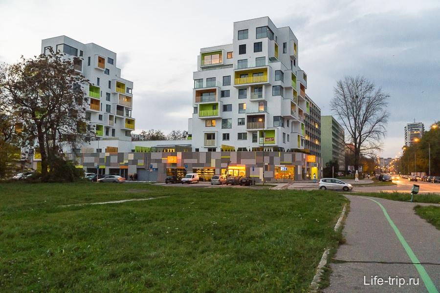 Симпатичные домики в Братиславе