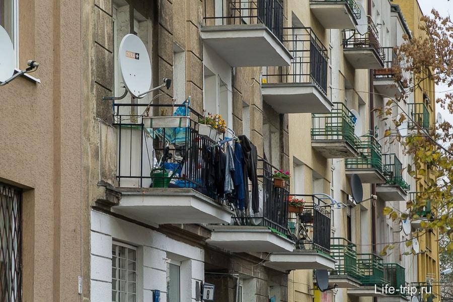 Балкончики, как в наших хрущевках