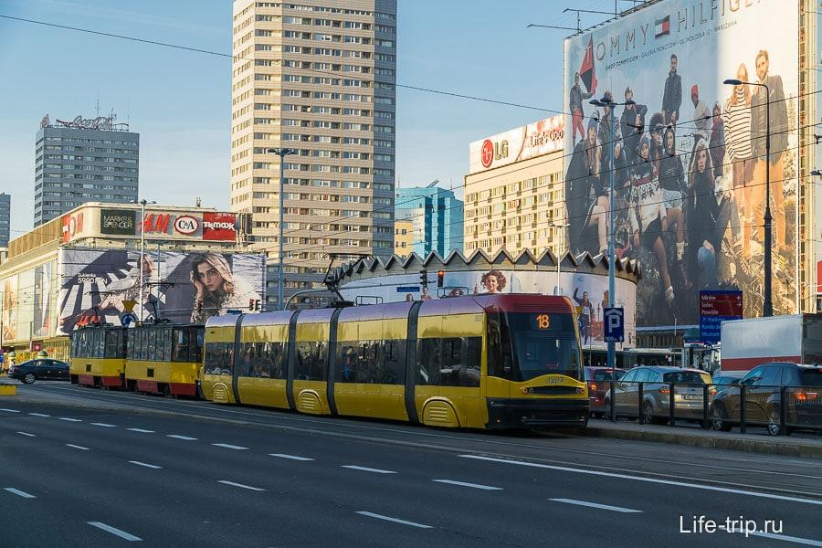 Новый трамвай в Варшаве
