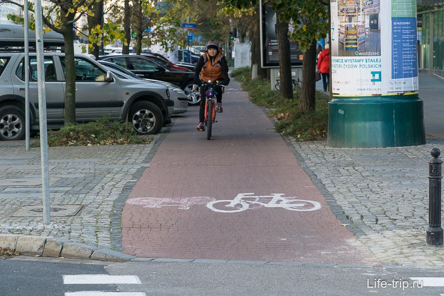 Велодорожки в Варшаве