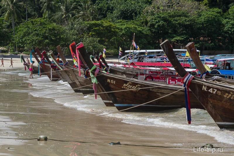 Типичные длиннохвостые лодки