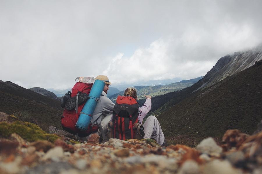 Спускаясь с вулкана Толука, Мексика