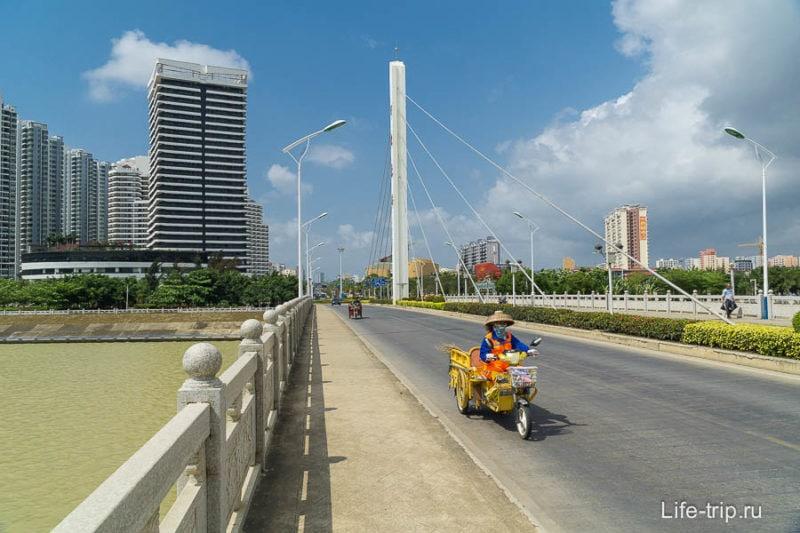 Линшуй, мост через реку