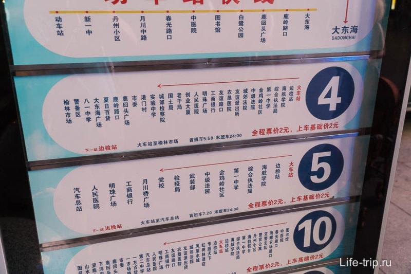 Автобусная остановка - иностранцу нужно знать китайский
