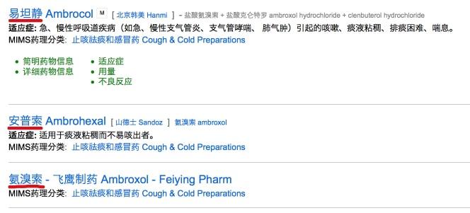 Чем лечить кашель в Китае - лекарства на основе Амброксола