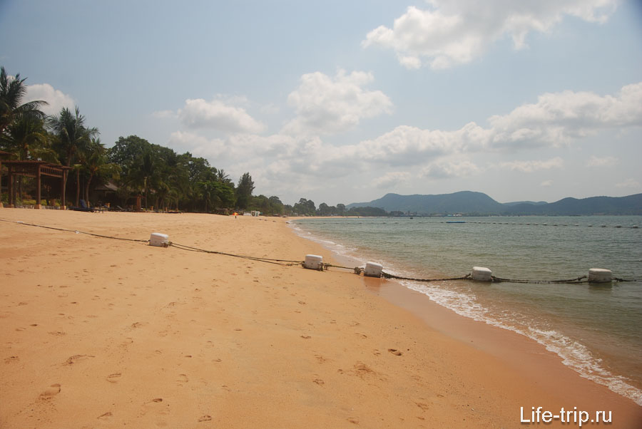 Северная часть пляжа