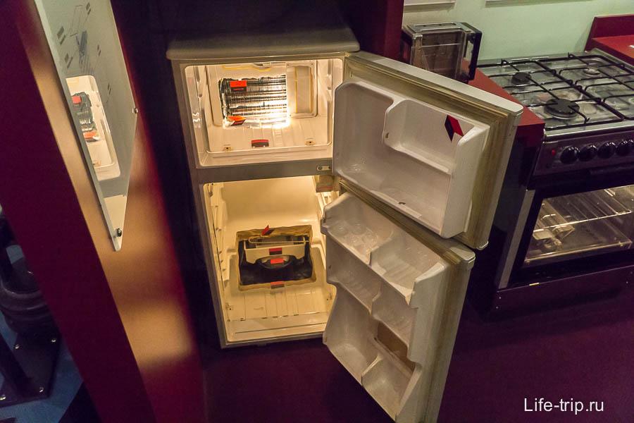 Внутренности холодильника