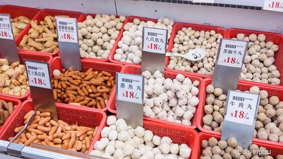 Замороженные рыбные и мясные шарики