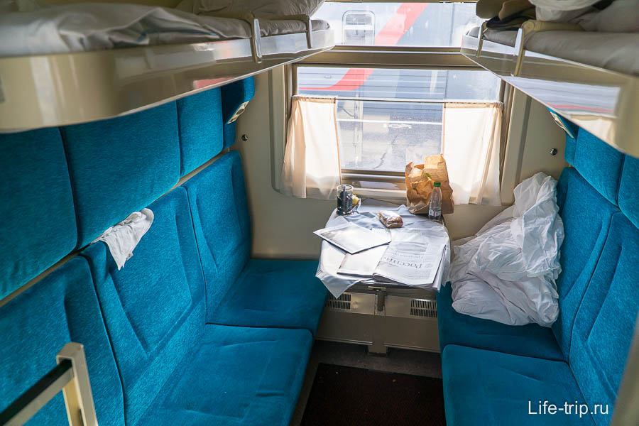 Купе поезда Нижний Новгород - Москва