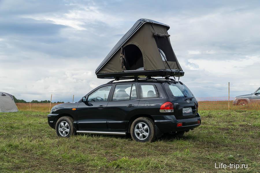 Интересная конструкция палатки