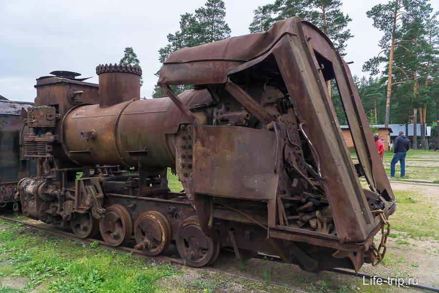 Остатки паровоза ВП4-2120, его нашли в болоте