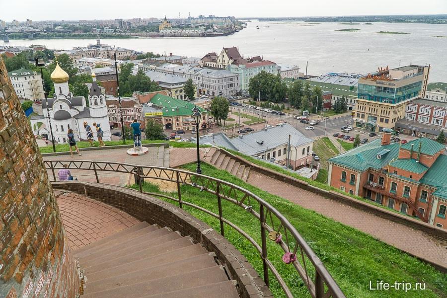 Вид от кремля на Нижний Новгород