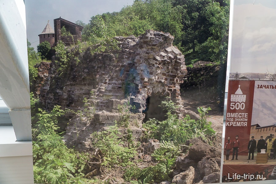 Фото остатков стены до реставрации