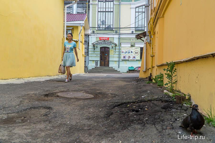 Один из переулков, примыкающий к пешеходной улице