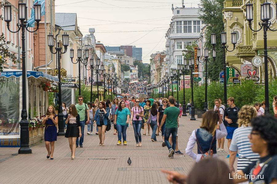 Пешеходная улица в Нижнем Новгороде