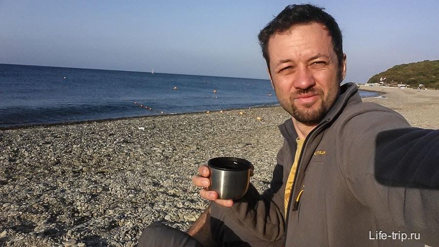 Раннее утро в Кринице и чай