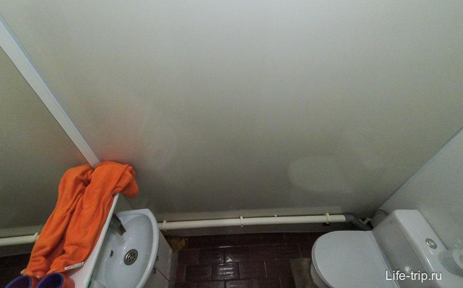 Туалет тоже тестоват