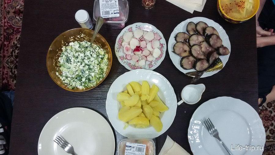 Самодельный и бюджетный ужин в Красной Поляне
