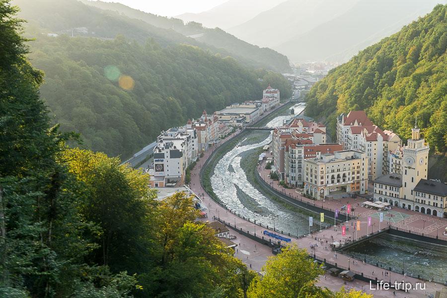 Роза Хутор с высоты - выглядит, как Европа