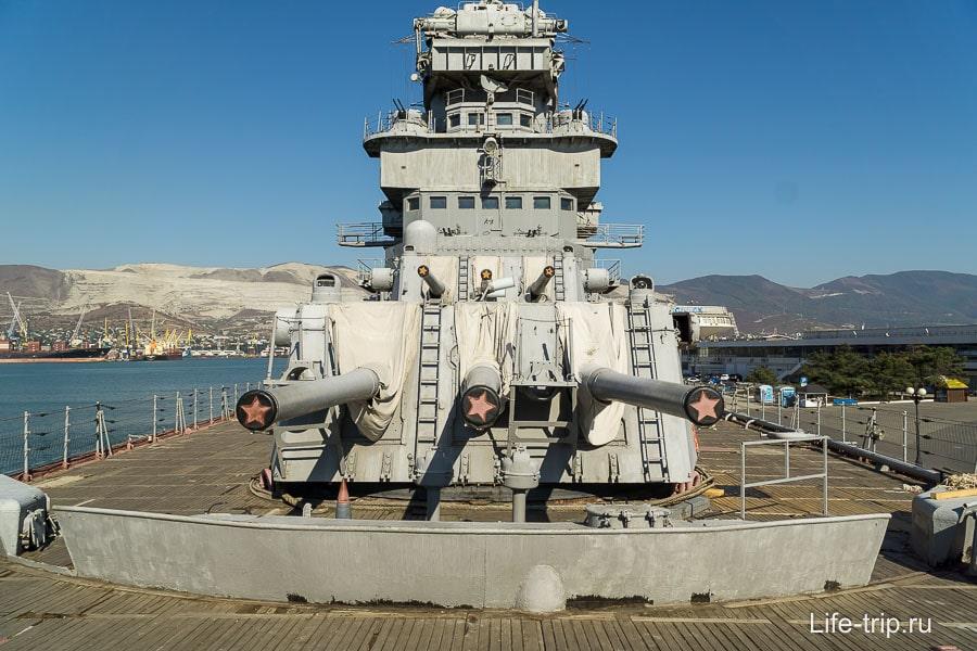 Крейсер Кутузов в Новороссийске