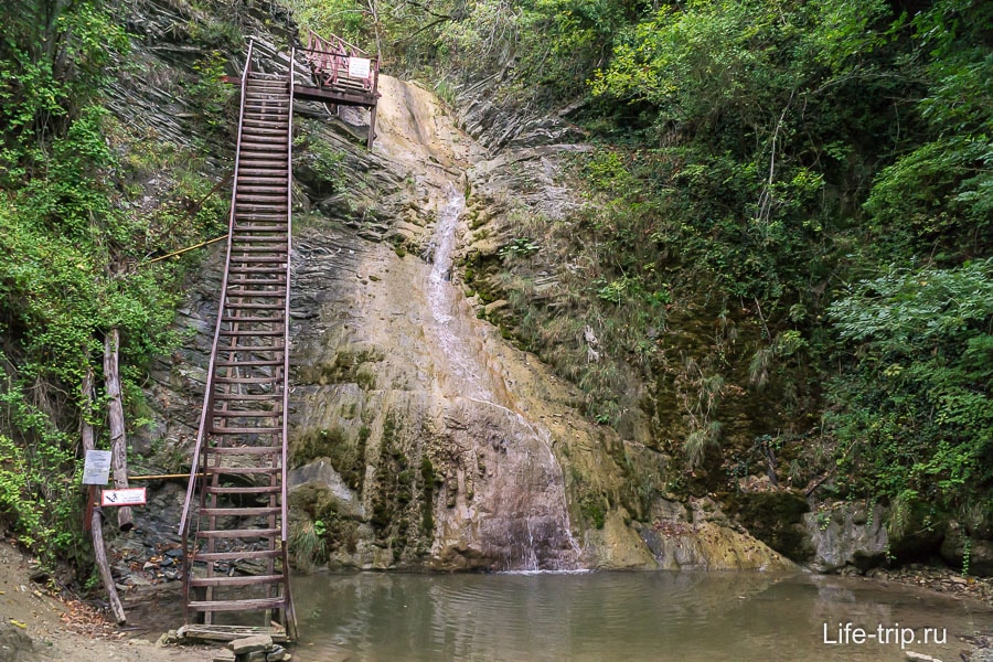 Гебиусские водопада осенью