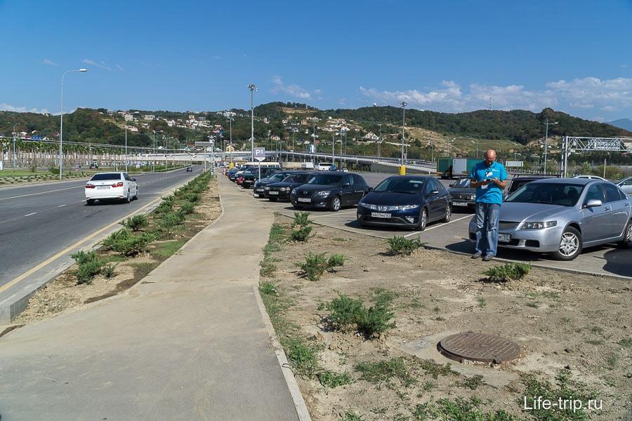 Бесплатная парковка в Олимпийском парке