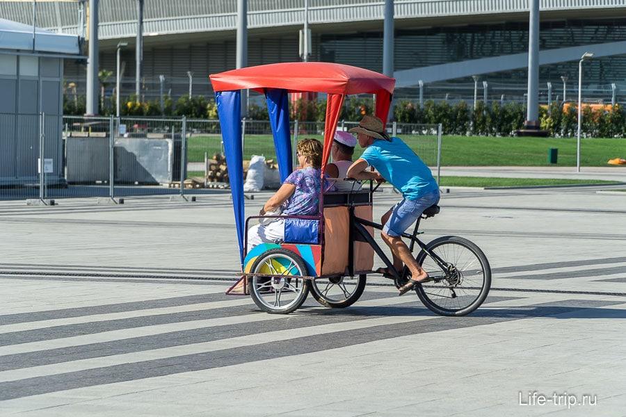 Если устал, в любой момент можно взять велорикшу