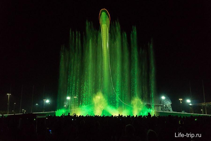 Поющий фонтан в Олимпийском парке в Сочи