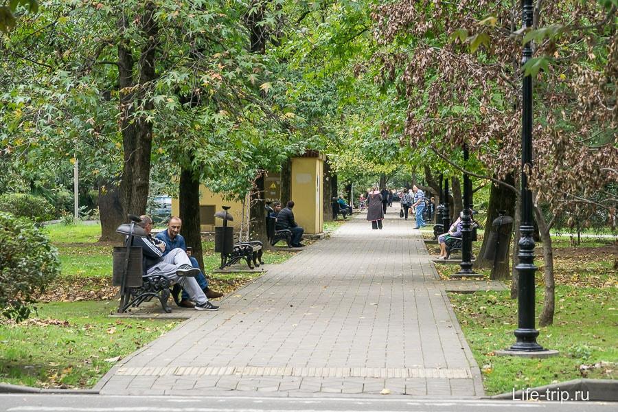 Цветной бульвар в Заречном районе