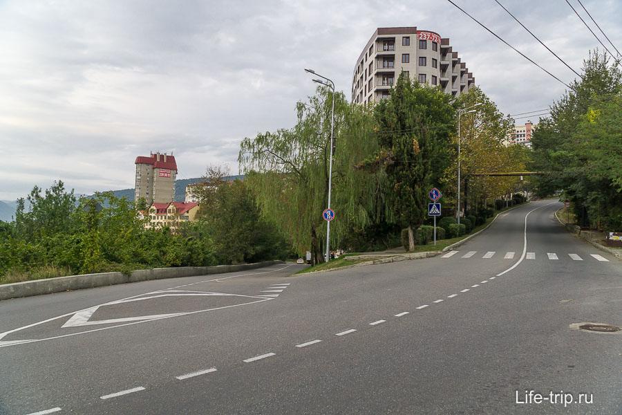 Район Вишневой улицы - почти на самом верху