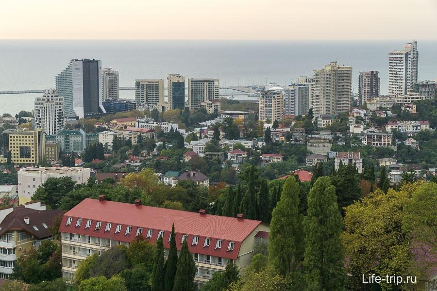 Сочи с высоты - район Светлана и Центральный