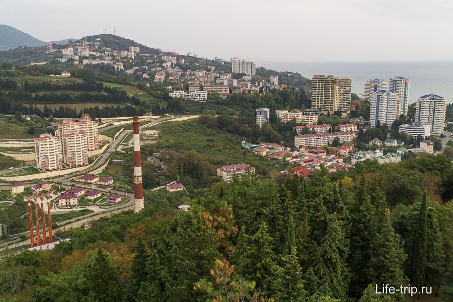 Сочи с высоты: районы Яна Фабрициуса и Бытха