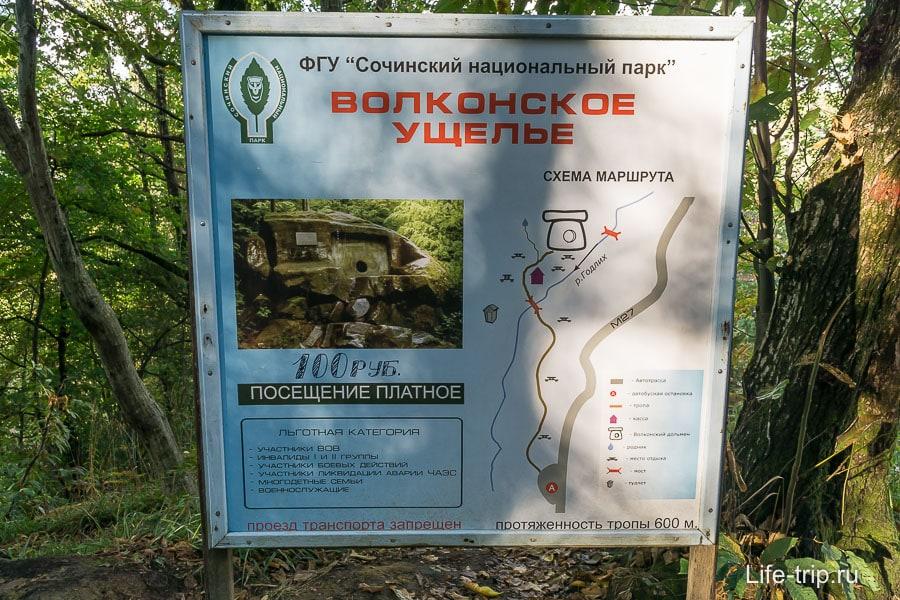 Схема маршрута, всего-то 600 метров