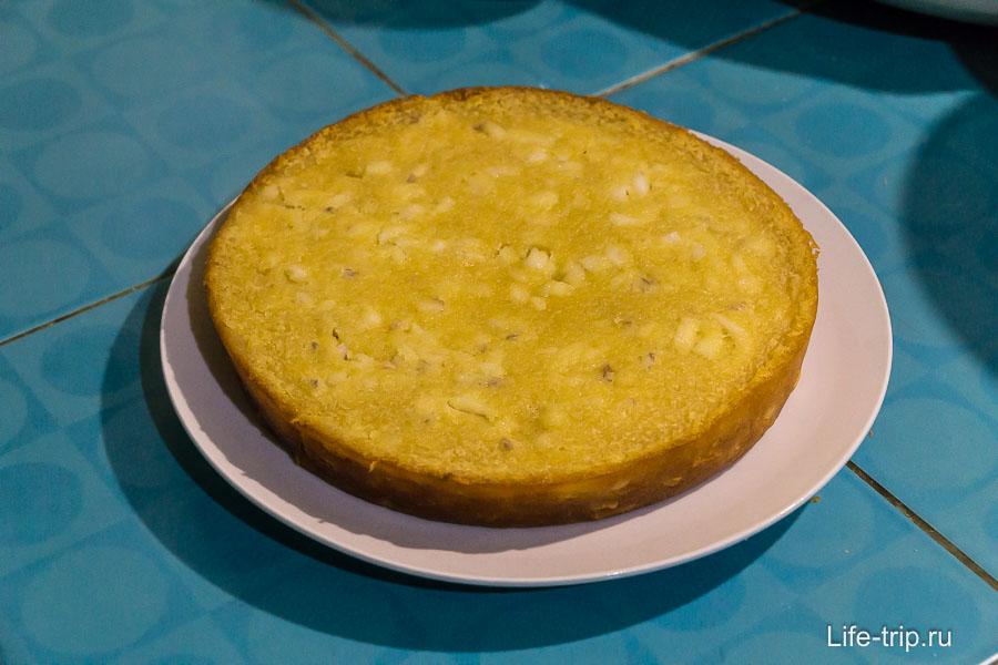 Готовый рисовый кекс